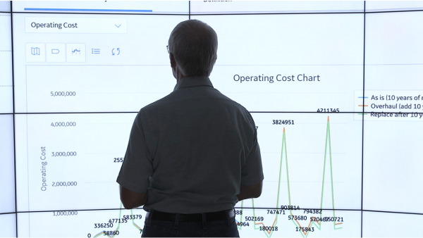 Industrial engineer studying total cost of ownership metrics