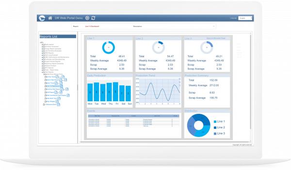 Dream Report | HMI SCADA reporting | GE Digital | Screenshot