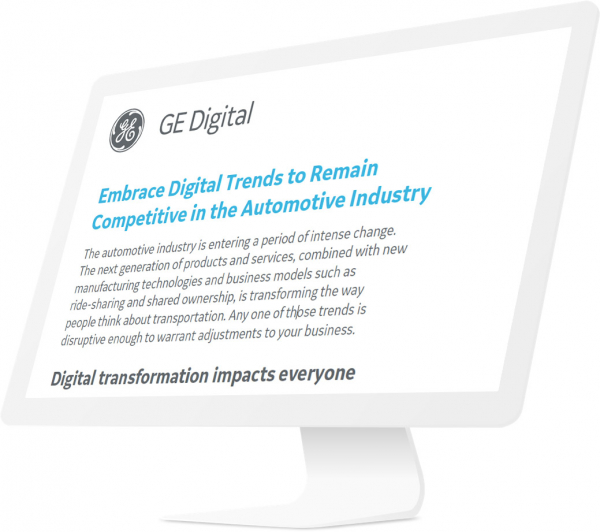 Embrace Digital Trends in Automotive | GE Digital | White Paper