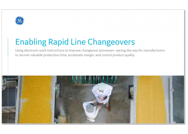 Enabling Rapid Line Changeovers | GE Digital white paper