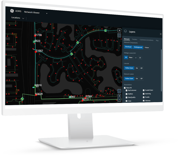 ADMS Network View   GE Digital software for Utilities and T&D