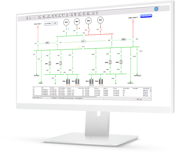 Critical energy management with iPower | GE Digital | software screenshot
