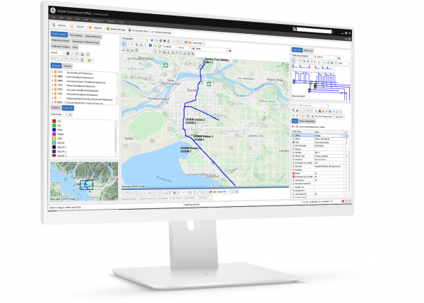 Global Transmission Office GIS Software screenshot from GE Digital