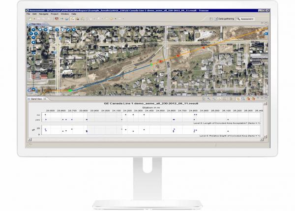 Maximum allowable operating pressure (MOAP) software screenshot | GE Digital