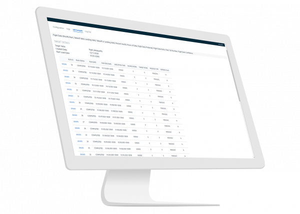 Flight Data Link software for Aviation by GE Digital | screenshot | analysis of flights