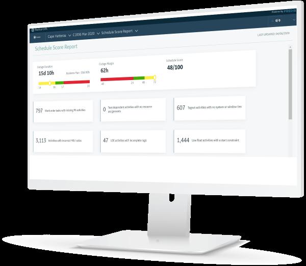 Outage Planning & Analytics screenshot |  screenshot for scheduling | GE Digital