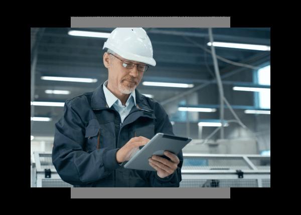 Industrial operator using Predix Platform event console from GE Digital