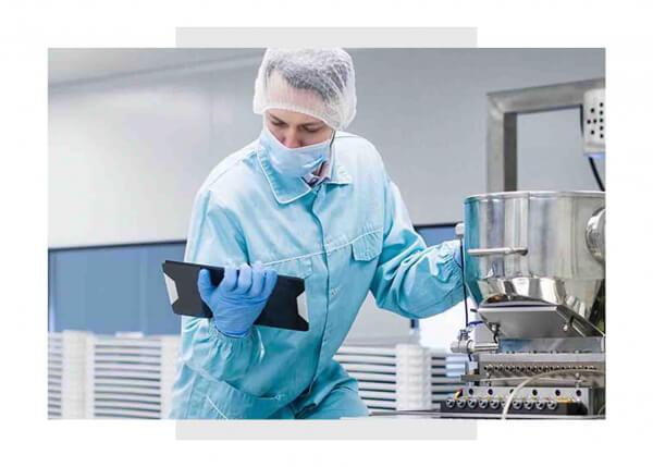 food manufacturing engineer using GE Digital MES softwarefood manufacturing engineer using GE Digital MES software