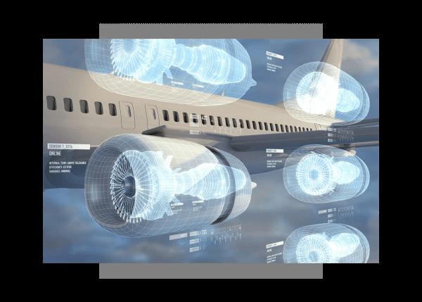 Predictive maintenance illustration for Aviation using GE Digital's industrial apps