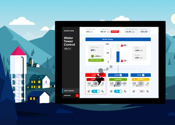 GE Digital SCADA Superhero | Play the role of a water utility operator