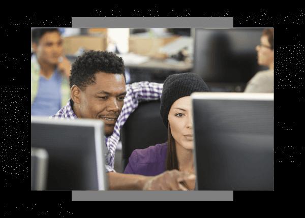 GE Digital engineers working on software implementation