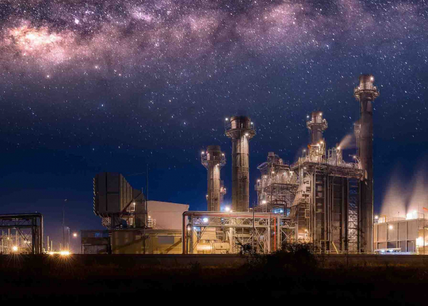 Power Generation plant at night | GE Digital software solutions