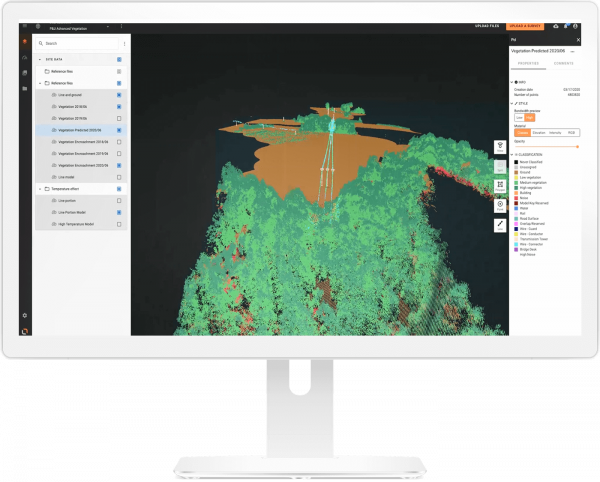 Visual Intelligence for vegetation management for utilities | screenshot | GE Digital