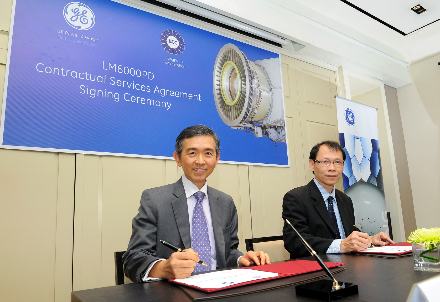 GE, Bangpa-In Cogeneration Sign Aeroderivative Service