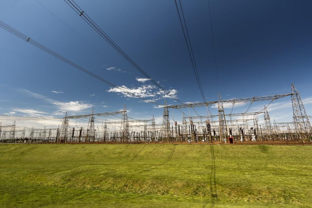 Power Substation in Itaipu Dam