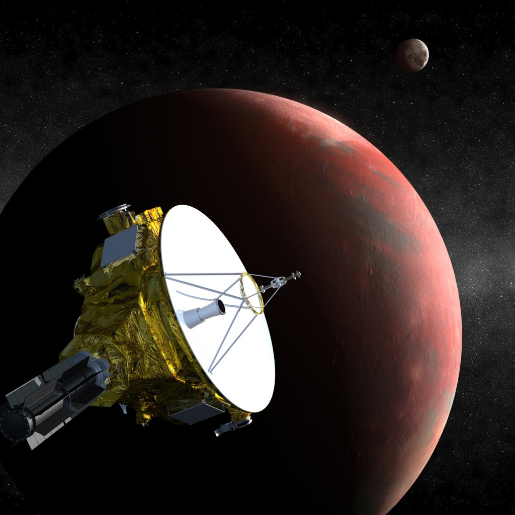 The New Horizons spacecraft as it approaches Pluto.