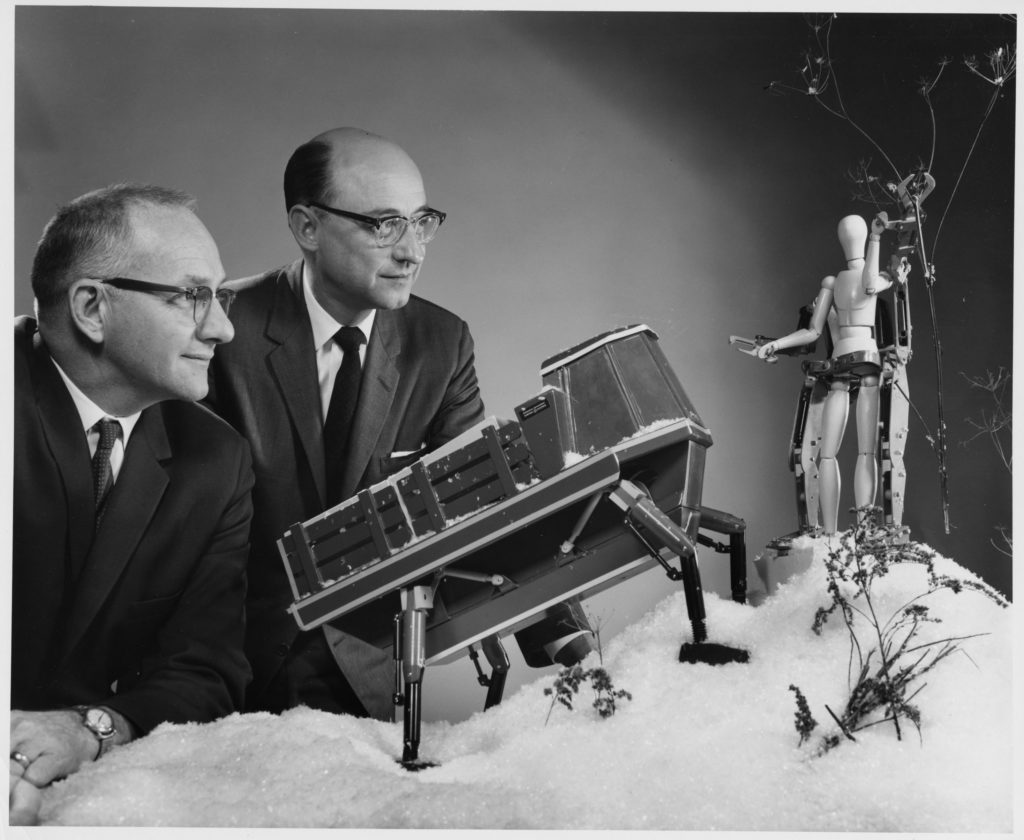 Ralph Mosher and Art Bueche with Walking Truck and Hardiman models 1966[1]