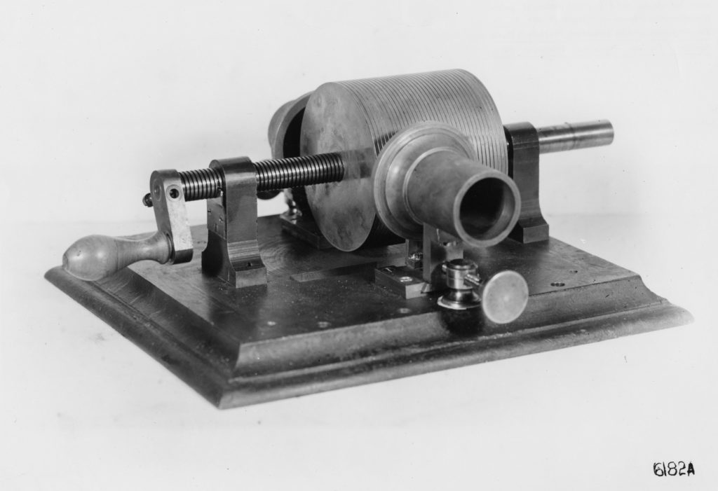 First phonograph, 1877