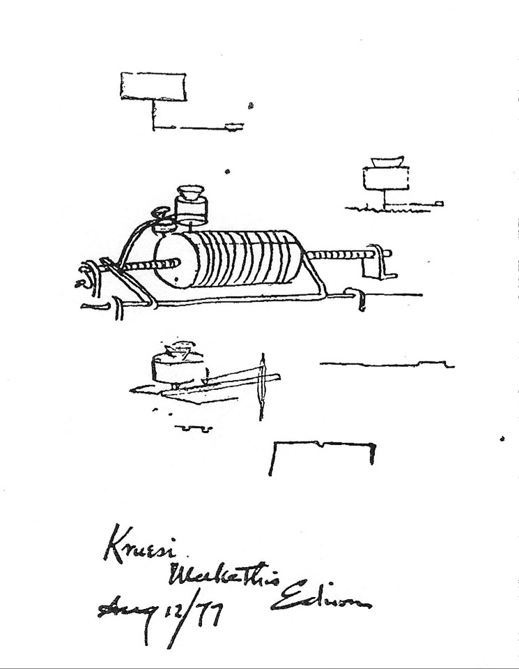 Phonograph sketch August 1877