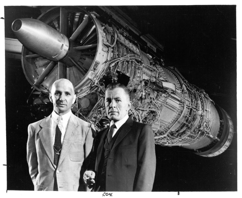 Gerard Neumann and Neil Burgess with J79 Turbojet
