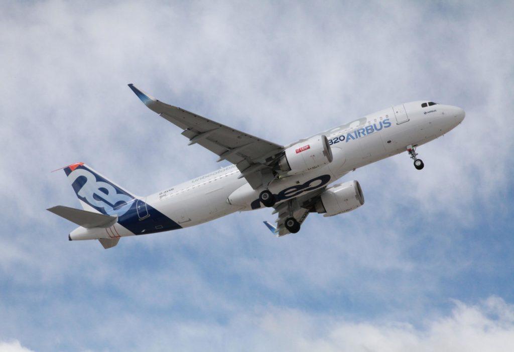 A320neo in flight