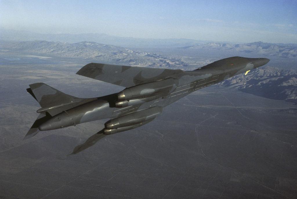B-1 Bomber in flight