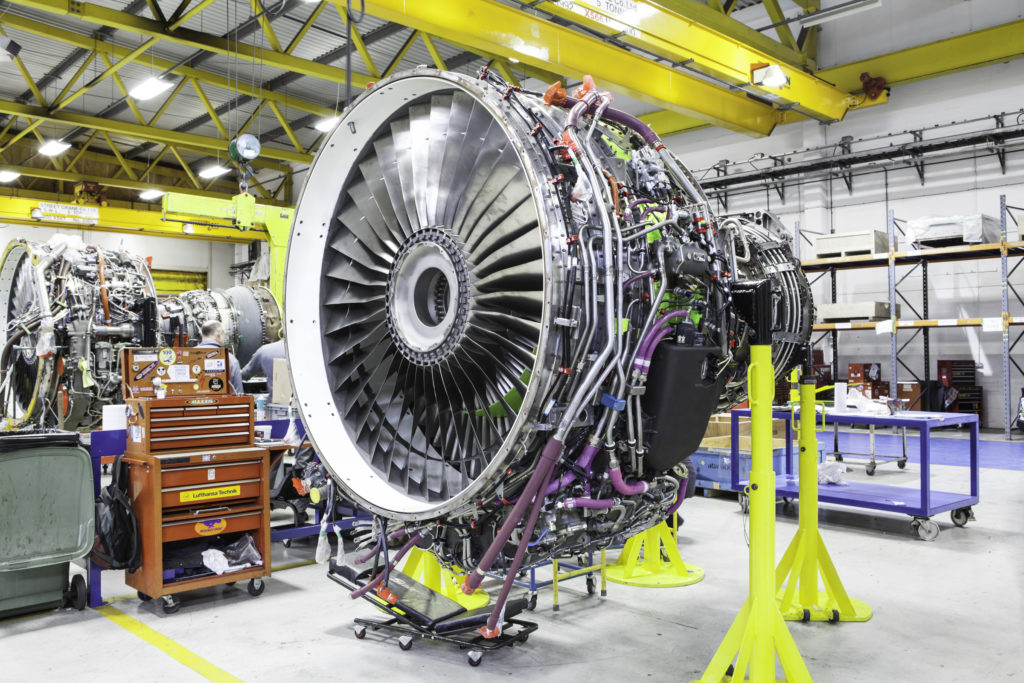 CFM56 engine at the GE Wales facility