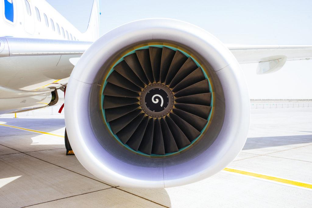Boeing 737 at the 2015 Dubai Airshow, Al Maktoum International Airport, Dubai, United Arab Emirates