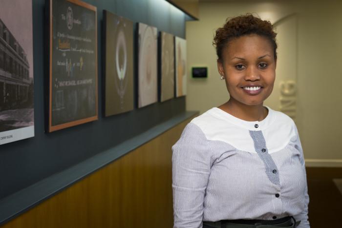 Susan Kangok works in GE's Nairobi office and is part of GE's Early Career Development Program (ECDP). (Photo: Arne Hoel)