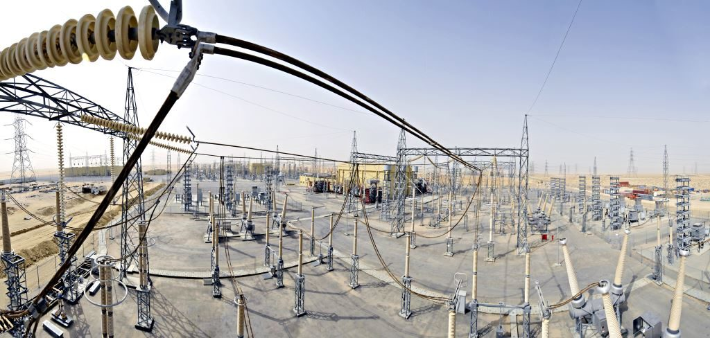 Panoramic view of a back to back HVDC Converter station, Al Fadhili_copyright GE