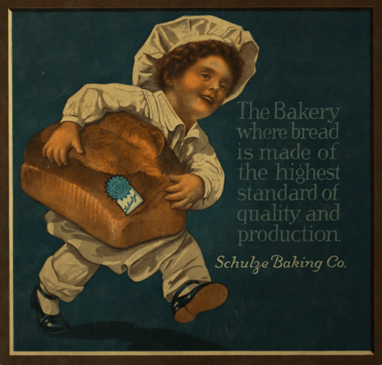 Schulze Baking Company advertisement. University of Illinois Chicago Digital Collections.