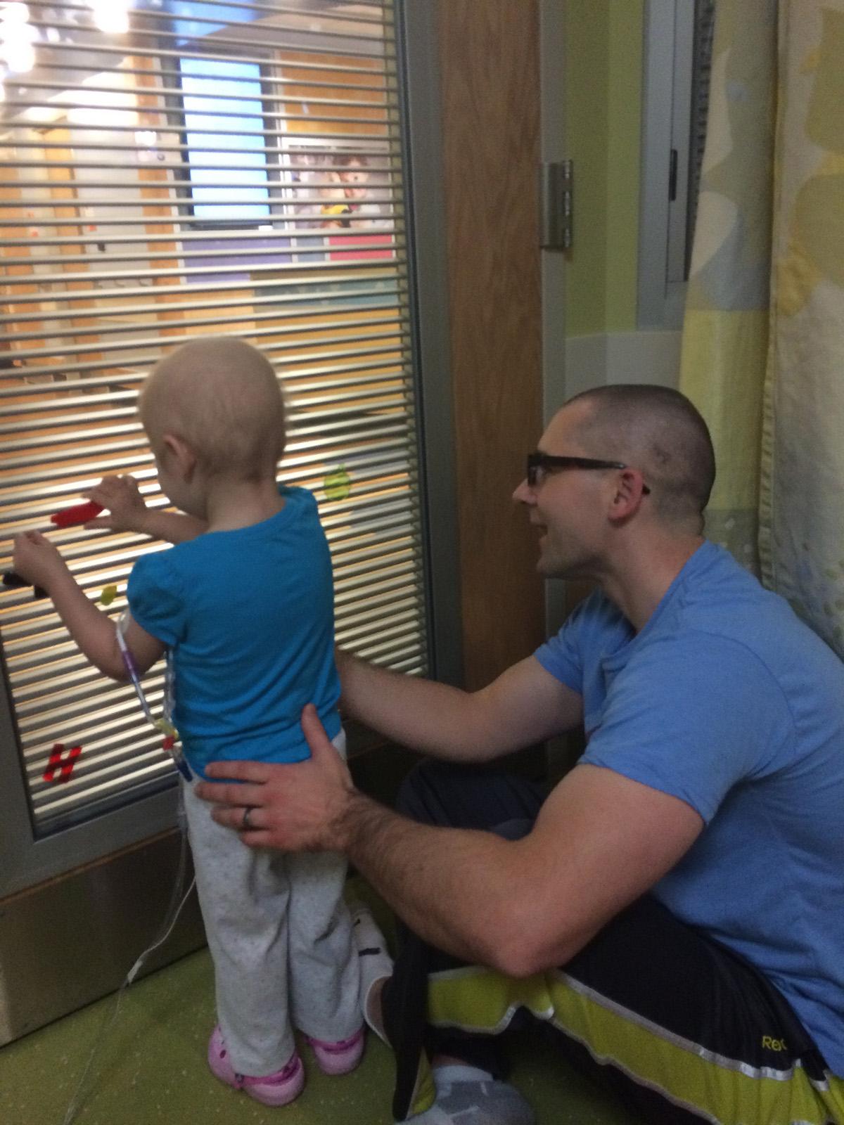 Maddie and David Havera at Children's Hospital