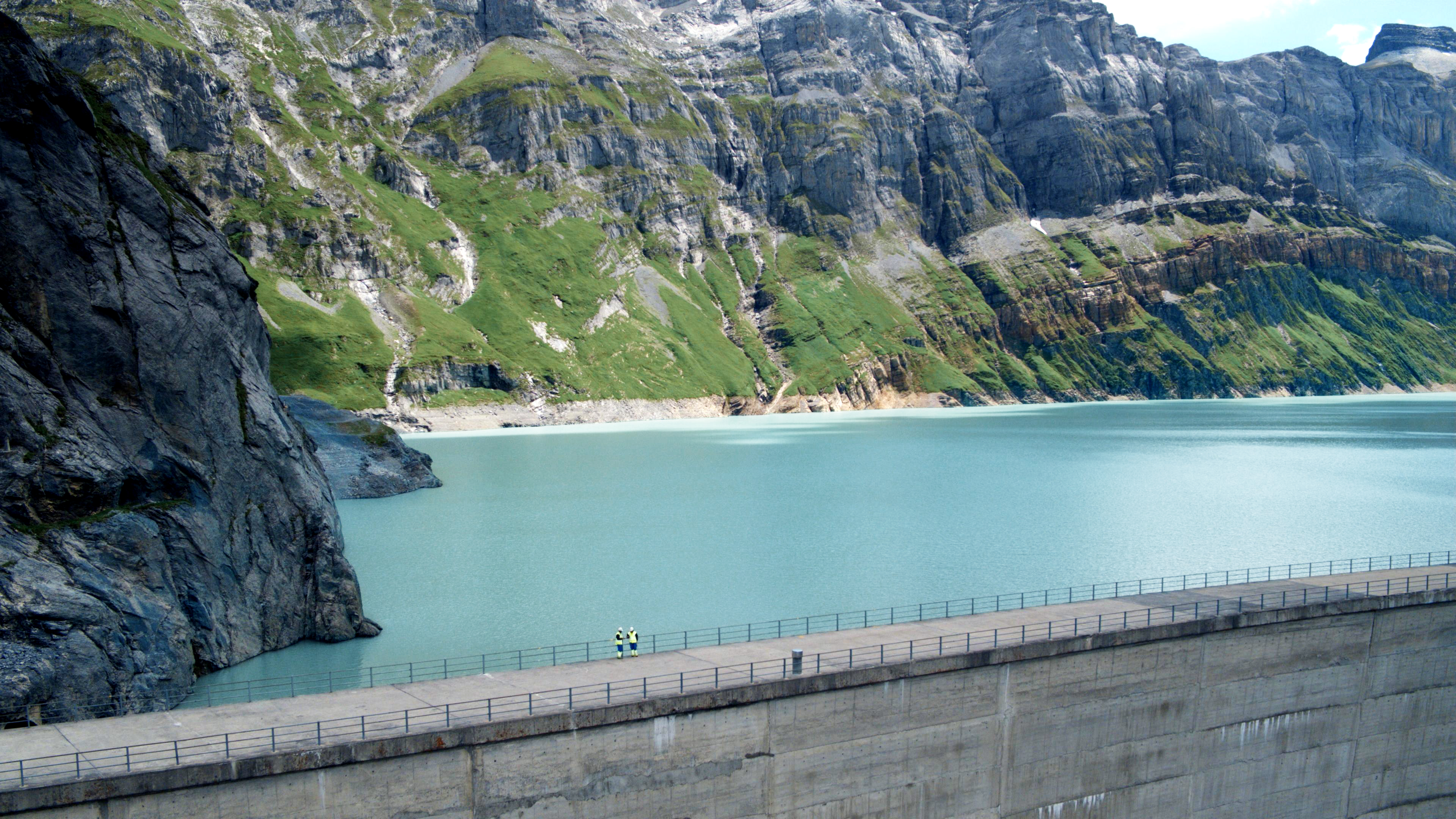 An Alpine reservoir, part of the Linth-Limmern facility
