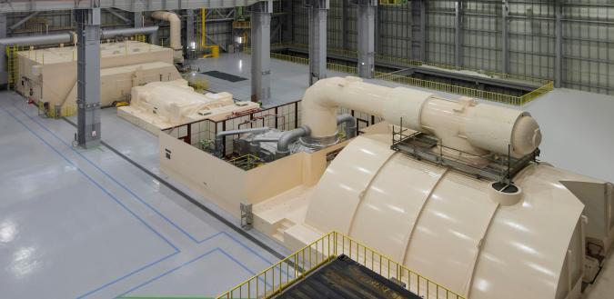 石狩湾新港発電所内部の写真